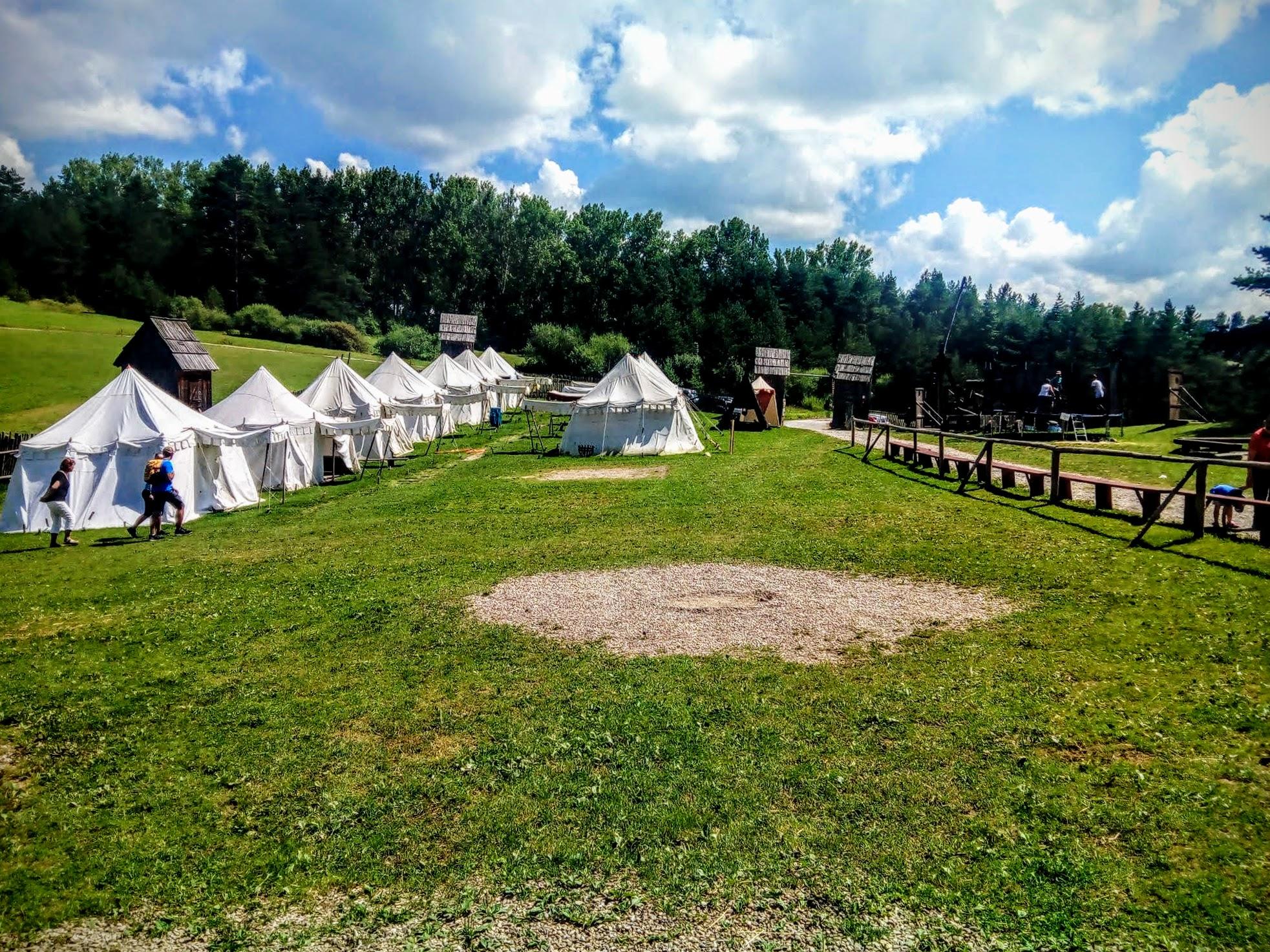 Medieval camp under the Stará Ľubovňa castle